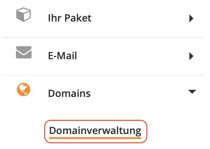 Domain Verwaltung