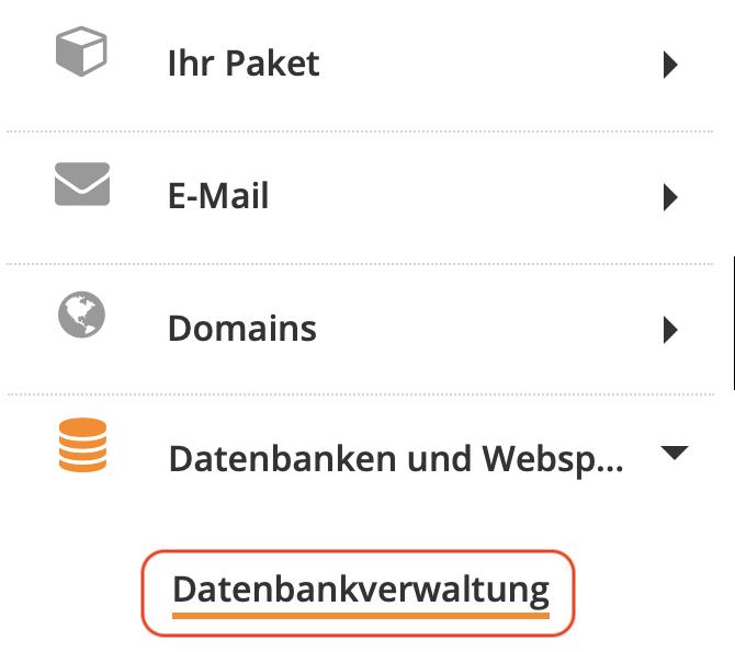 Strato Datenbank Verwaltung